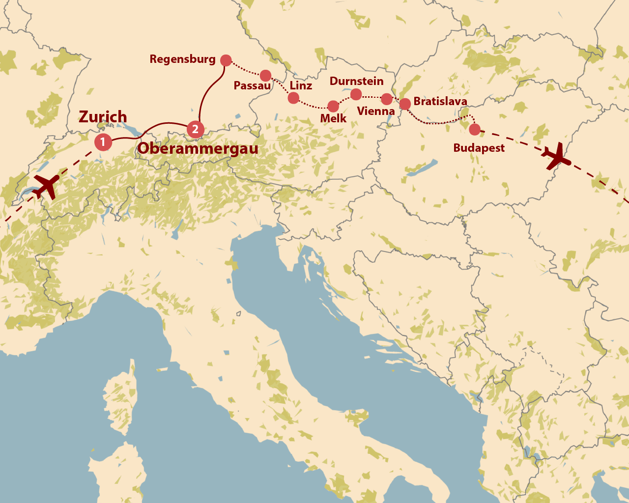 April Passion Play Map